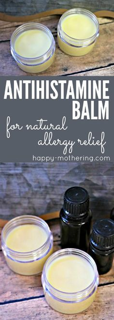 Are you looking for natural allergy relief remedies or products that works? Learn how to make our DIY antihistamine balm. It combines essential oils with natural ingredients for quick and reliable allergy relief. #allergyrelief #antihistamine #naturalremedies #springallergies #naturalallergyrelief #antihistaminebalm #allergybalm #allergies #diyhealth #naturalhealth via @happymothering