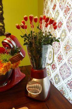 """Photo 6 of Kitchen Shower / Bridal/Wedding Shower """"Katie's Kitchen Shower"""" Catch My Party Bridal Shower Rustic, Bridal Shower Gifts, Bridal Showers, Kitchen Decor Themes, Kitchen Shower Decorations, Bridal Shower Decorations, Shower Party, A Table, Center Pieces"""
