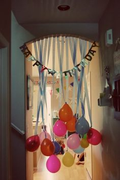 Do this to the kids doorway on their birthday morning! with-the-kids-and-for-the-kids