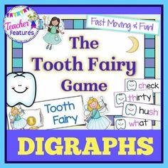 *Dental Health* This is an interactive, tooth fairy themed game focusing on Digraph words helps your students practice phonics skills(Grades K-2). Inside you will find a fun game focused on 77 words.
