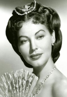 Ava Gardner, The Great Sinner, 1949 wearing Joseff of Hollywood jewelry