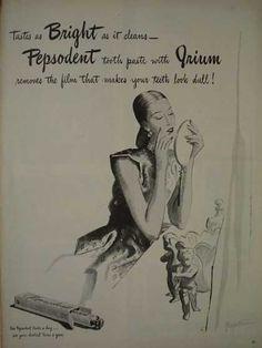 Pepsodent toothpaste with Irium (1945)