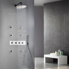 LED Wall Mount Rain Head Body Spray Shower Jet Set | FaCeLiFt... My House!  | Pinterest | Shower Jets, Wall Mount And Walls