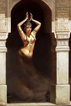 Dancing Genie Picture  (2d, fantasy, girl, female, woman, dancer)