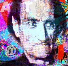 Antonin Artaud - digital image -- by Lancillotto Bellini