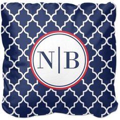 Lantern Monogram Pillow, Sherpa, Pillow (Sherpa), 16 x 16, Single-sided, Blue