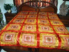 velvet bedspreads, india bedding, coverlet throw, bedspread from india
