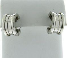 Bvlgari Bulgari B.Zero1 18k Gold Hoop Earrings  Featured in our upcoming auction on June 28!