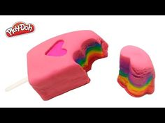 Play Doh How to Make a Big Ice Cream Rainbow Popsicle Fun & Easy DIY Big Ice Cream, Play Doh, Popsicles, Birthday Candles, Easy Diy, Presents, Rainbow, Happy, Youtube
