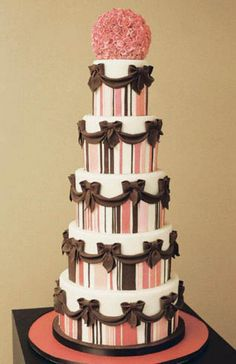 The Jennifer by White Flower Cake Shoppe.  Love the pinks and browns together.