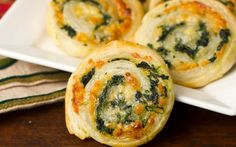 Cheesy Spinach Pinwheels Recipe on Yummly. @yummly #recipe