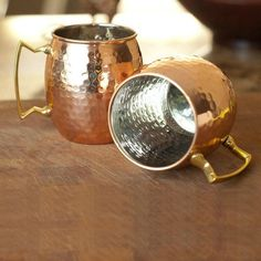 2Pcs/Lot Stainless Steel Lining Copper Mugs  #New #Trend #Discount #Hot #Buy #Sale