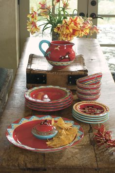 For the newlyweds, Ranch House dinnerware by Pendleton.