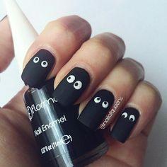Eyes, black, nail