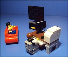 lego couch, tv and table