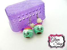 Shopkins Earrings Patty Cake Food Fair Edition by GlamShopBeads