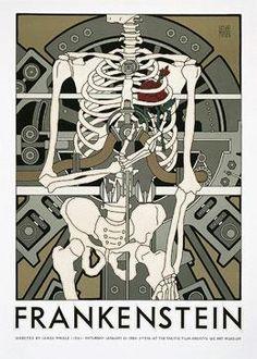 Frankenstein Movie Poster by David Lance Goines
