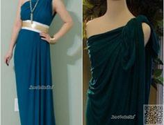 6. #One-Shoulder Drape - 10 #Summer Perfect DIY Maxi #Dresses ... #Projects