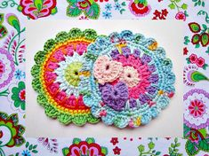 Instant Download :Colorful Medallion Crochet Pattern N on Etsy, $4.90