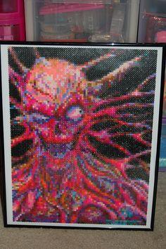 horror perler bead art made by me - amanda wasend