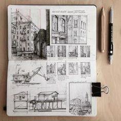 Sketchbook drawings, sketchbook pages, drawing sketches, art drawings, urba A Level Art Sketchbook, Sketchbook Drawings, Drawing Sketches, Square Sketchbook, Travel Sketchbook, Sketchbook Pages, Doodle Drawings, Architecture Sketchbook, Architecture Art