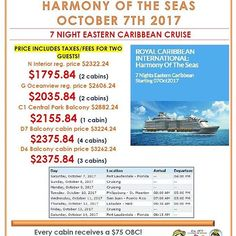 Some amazing cruise deals being offered right now.  Let @Binghamfamilytravel help you book your next vacation.contact me for details and additional OBC and Savings.  Make sure you follow www.facebook.com/Binghamfamilytravel on facebook for the best vacation, travel or cruise deals around. #BinghamFamilyTravel #Beach  #Travel #Vacation #Cruise #FamilyVacation #AllInclusive #sun  #sand #sea #fun #cruiseships #royalcaribbean #carnival #MSC #celebrity #NCL #allureoftheseas #harmonyoftheseas…