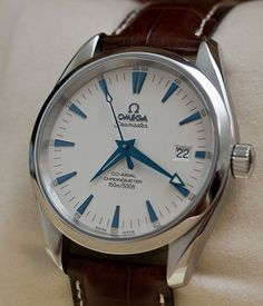 OMEGA // Aqua Terra Seamaster Co-Axial 38.5 MM // ~$4000 USD