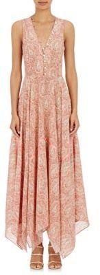 Altuzarra Women's Clemmie Maxi Dress-PINK  Details: Pink and ecru paisley silk crêpe de Chine Clemmie maxi dress trimmed with satin tape.