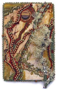 Bead Journal Project, Christi Carter, Sept, Lichen