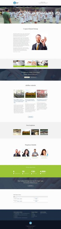 Website designed for a government high school in North Sulawesi, a province of Indonesia.