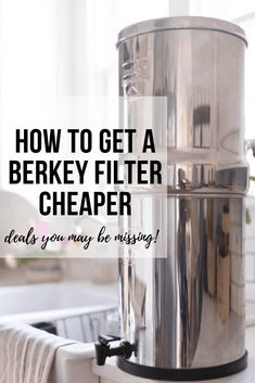 How to Get a Berkey Water Filter for a Deal Brita Water Filter, Drinking Water Filter, Water Filter Pitcher, Water Filters, Berkley Water Filter, Healthy Water, Water Filtration System, Water Purification, Glass Water Bottle