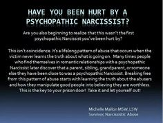 Please educate yourself and know that the Narcissist doesn't change...they become worse with time.  Don't waste your life trying to fix the unfixable.