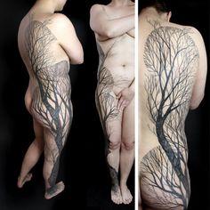 inspiration: Peter Aurisch Geometric Tattoos
