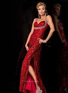 Vestido de Festa Longo Com Alças e Fenda Scala 48391