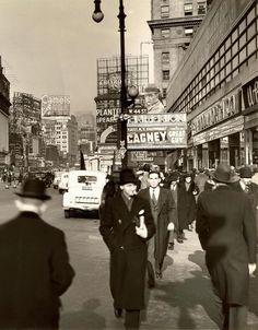 New York City, Broadway & 44th Street,1936. Fascinating.