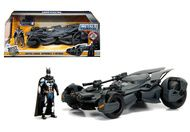Justice League Batmobile & Diecast Batman Figure 1/24 Scale Model Car By Jada 99232