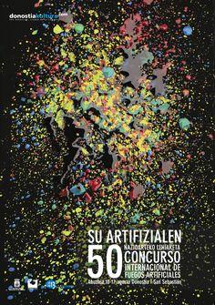 """Renacer"" Cartel presentado al concurso de carteles de Fuegos Artificiales de San Sebastián. ""Reborning"" This poster has been presented to St.Sebastian´s fireworks poster contest."