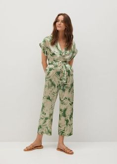 Mango Jumpsuit met tropische print - online shoppen - Fashionchick.nl Mango France, Mango Fashion, Fashion Online, Latest Trends, Jumpsuit, Cool Outfits, Prints, Shopping, Casual