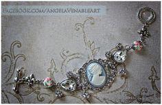 Cameo  Cameo Bracelet  Victorian Jewelry by AngelaVenArtwork