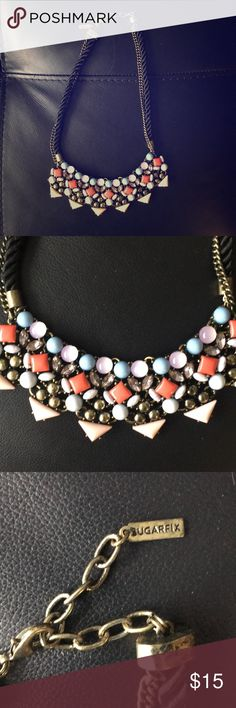 Sugarfix/Baublebar necklace Rope and multicolored. Never worn baublebar Jewelry Necklaces
