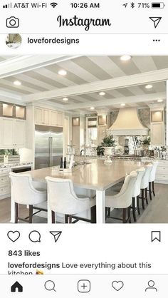 design ideas for the renovation of the gray kitchen cabinet to copy 50 Home Decor Kitchen, Kitchen Living, New Kitchen, Kitchen With Dining Room, Living Room, Grand Kitchen, Grey Kitchen Cabinets, Kitchen Cabinet Design, Kitchen Backsplash