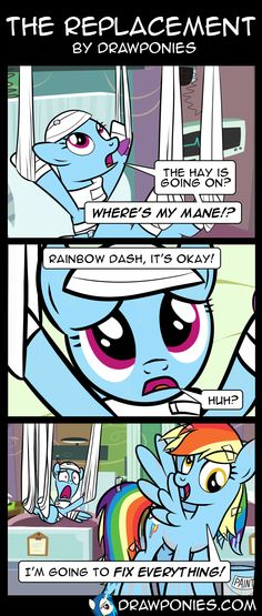 Comic: The Replacement by drawponies.deviantart.com on @deviantART