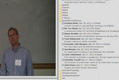 Duke University : Geometry, Topology Conferences  https://www.math.duke.edu/video/video.html?_vidId=830435f42d80c6b48d621f0f9187d43a