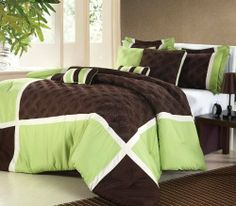 """3 DAY BLACK FRIDAY, HOLIDAY SUPER SPECIAL!!! """"Shelly"""" Oversized & Overfilled 8 Piece Sage / Brown Comforter Set, Queen Size by Style Living. $79.99. The comforter, is designed with a unique Diamond  stitched design, in beautiful sage / brown colors... Oversized comforter set includes: comforter, bedskirt, two shams, 4-decorative pillows. Care: Machine washable. Create a comfortable presence with a soft, soothing thistle palette, with this unique """"Shelly"""" comforter set.. C..."""