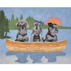 Schnauzer Lake Dogs