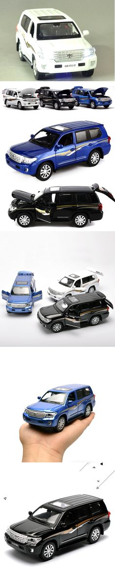 1: 32 Land Cruiser SUV Alloy Car Model Toys Pull Back Light&Music Toys For Children Boys Diecasts Collections Gift Vehicles Toys