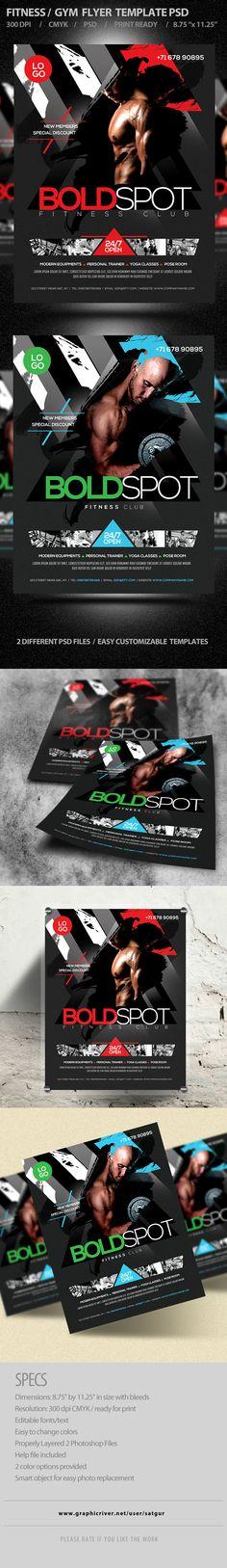 Fitness Flyer / Gym flyer V7 on Behance