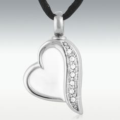 Perfect Memorials Classic Car Heart Stainless Steel Cremation Jewelry