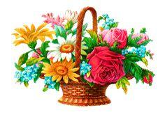 digital flower basket image