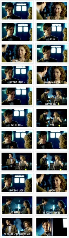 This was adorable!! The Doctor just looks so happy!